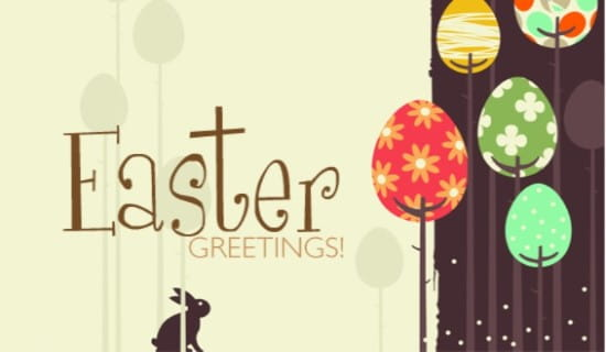Easter Greetings, Bunny ecard, online card