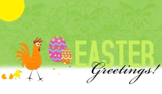 Easter Greetings, Baby Chick ecard, online card
