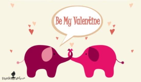 Be My Valentine ecard, online card