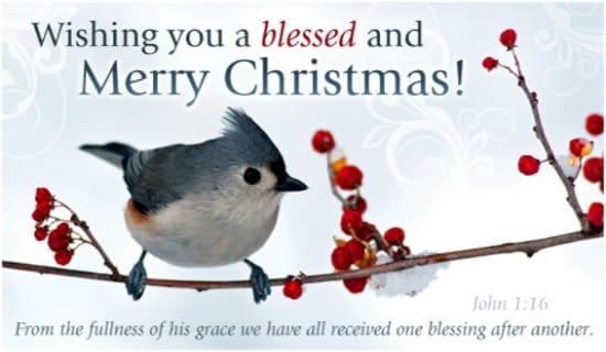 John 1:16 ecard, online card