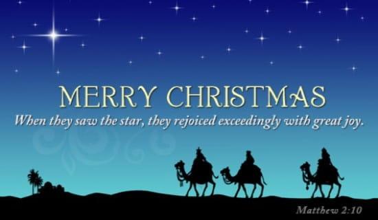 Matthew 2:10 ecard, online card