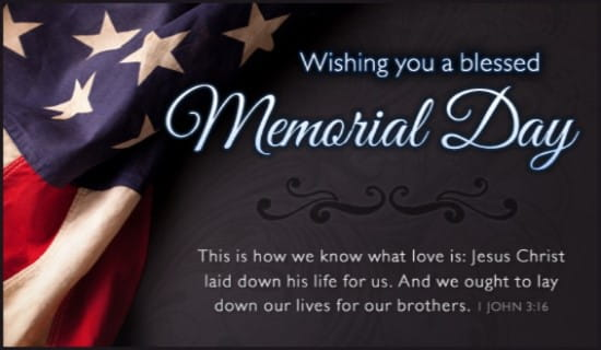 Memorial Blessings ecard, online card