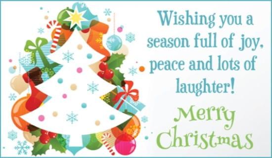 Joy, Peace & Laughter ecard, online card