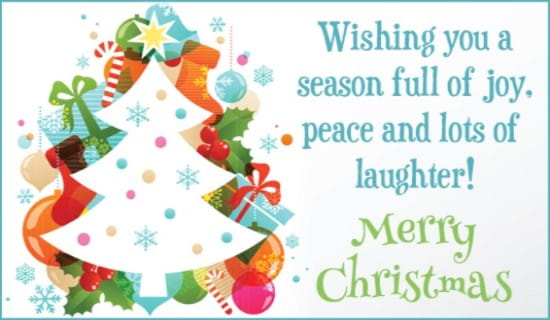 Joy peace laughter ecard free christmas cards online m4hsunfo