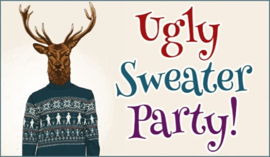 Ugly Sweater Party ecard, online card