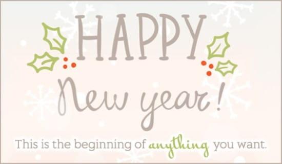 Happy New Year ecard, online card
