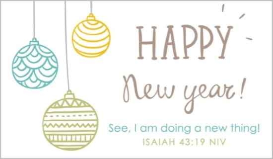 Isaiah 43:19 eCard - Free New Year Cards Online