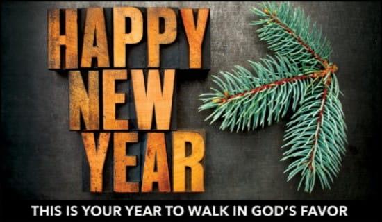 Walk in God's Favor ecard, online card