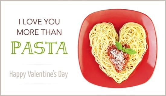 More Than Pasta ecard, online card