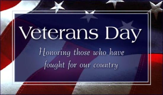 Veterans Day ecard, online card