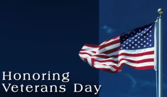 Honoring Veterans Day ecard, online card