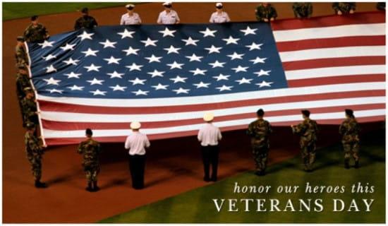 Honor Our Heroes ecard, online card