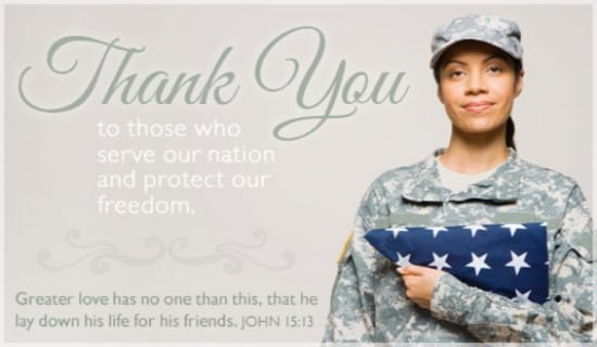 picture regarding Military Thank You Cards Free Printable identified as Cost-free Thank Oneself eCard - e mail Free of charge Custom-made Patriotic