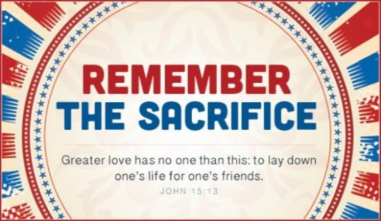 Remember Sacrifice ecard, online card