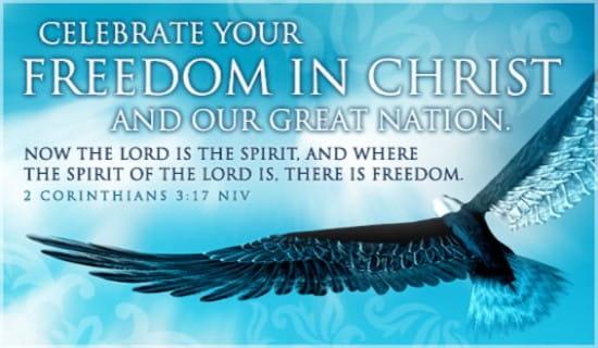 Freedom in Christ ecard, online card