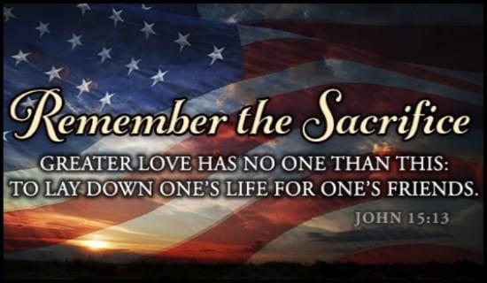 Remember the Sacrifice ecard, online card