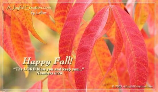 Happy Fall ecard, online card