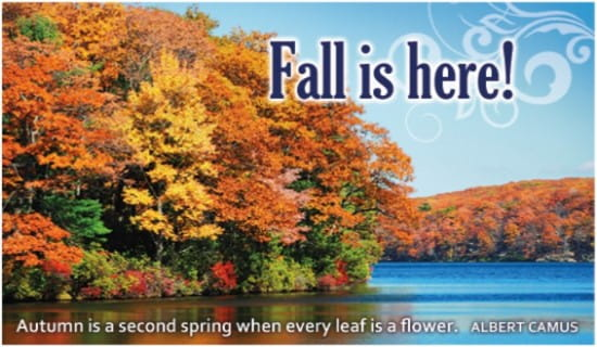 Fall is Here ecard, online card