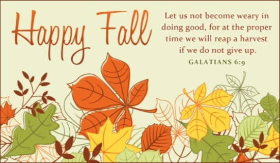 Happy Fall eCard - Free Autumn Cards Online