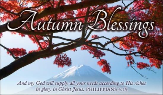 Philippians 4:19 ecard, online card