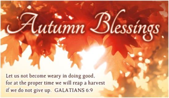 Autumn Blessings ecard, online card