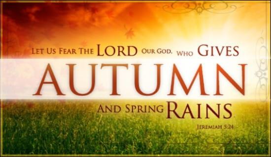 Autumn Rains ecard, online card