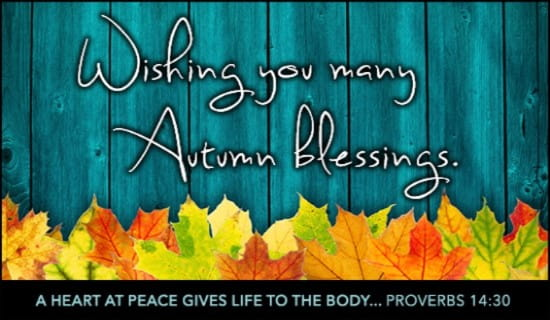Autumn Blessings ecard, online card