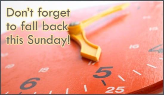 Fall Back ecard, online card