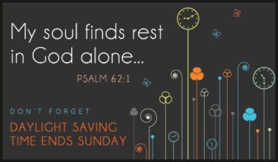 Daylight Saving Time Ends ecard, online card
