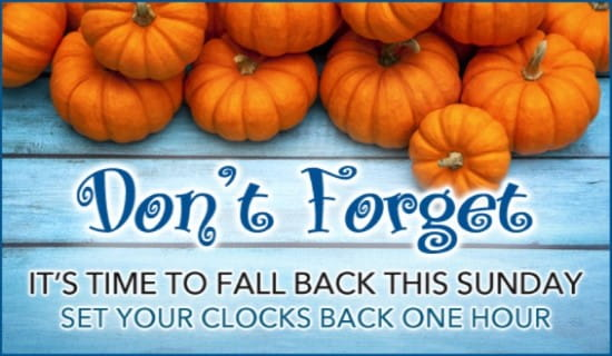 Fall Back ecard, online card