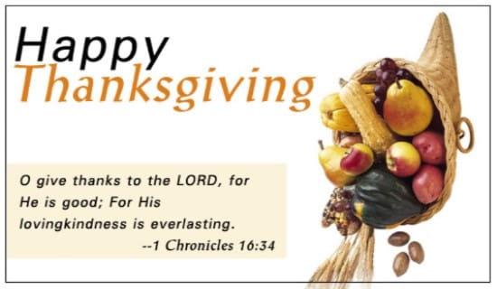 Thanksgiving - Chronicles ecard, online card