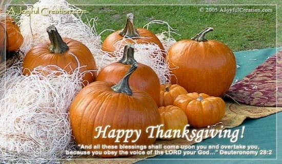 Thanksgiving ecard, online card