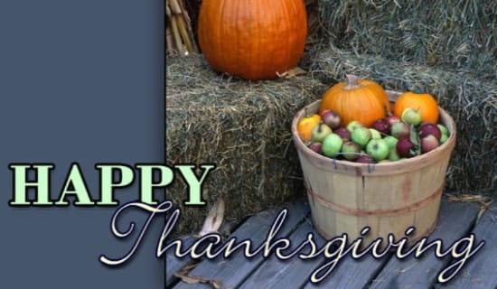 Thanksgiving - Happy Thanksgiving ecard, online card