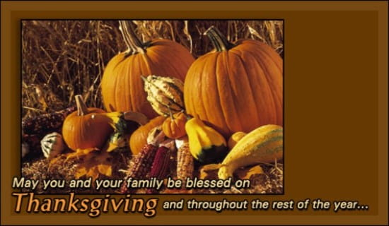 Thanksgiving - Pumpkins ecard, online card