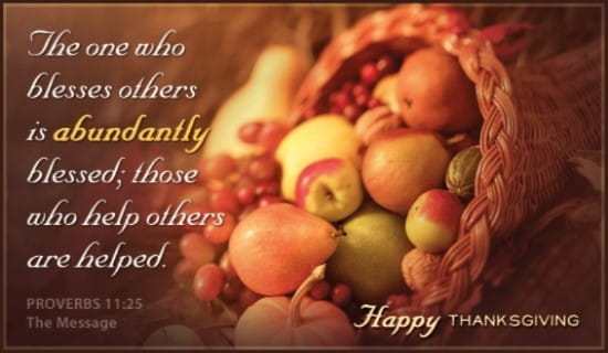 Blessed Thanksgiving ecard, online card