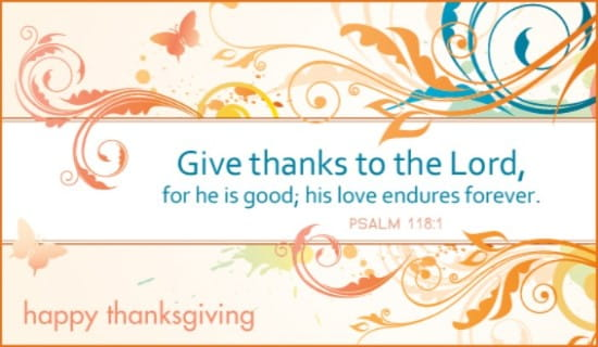 Give Thanks ecard, online card