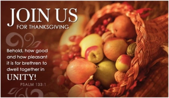 Thanksgiving Invite ecard, online card