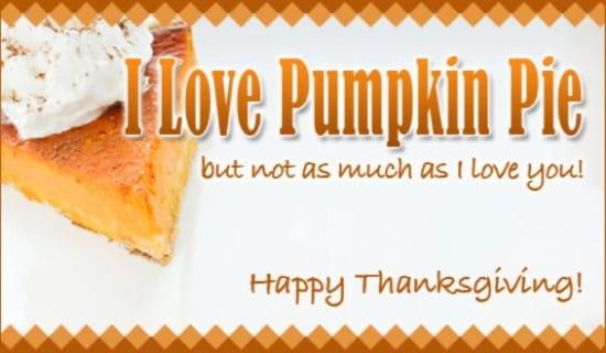 Pumpkin Pie ecard, online card