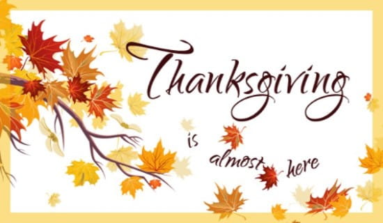 Almost Thanksgiving  ecard, online card
