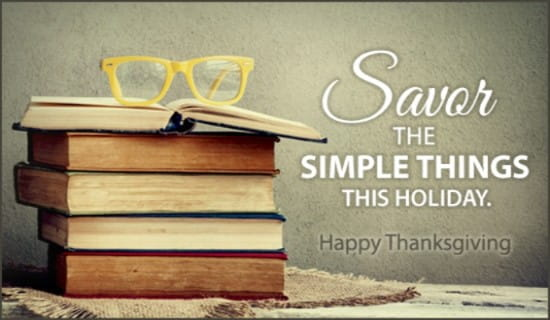 Savor the Simple Things ecard, online card