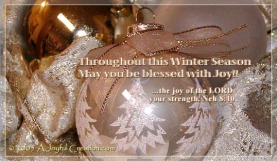 Blessed With Joy ecard, online card