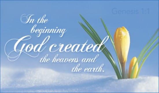 Genesis 1:1 ecard, online card