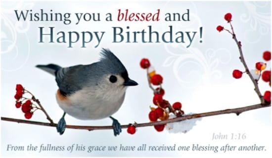 Blessed Birthday ecard, online card