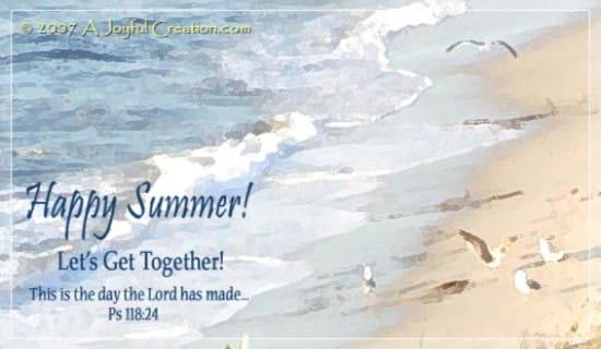 Summer Beach ecard, online card