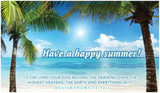 Happy Summer ecard, online card