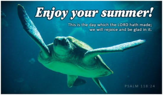 Enjoy Your Summer! ecard, online card