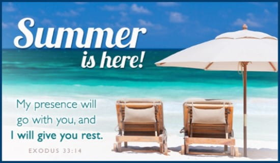 Summer Rest ecard, online card