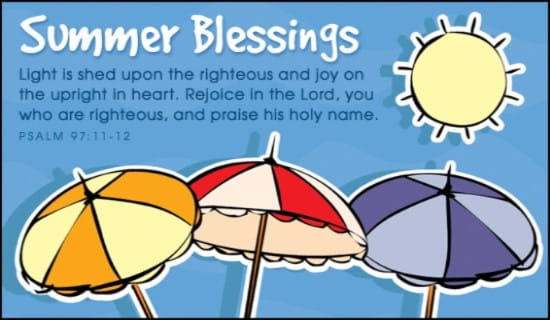 Summer Blessings ecard, online card