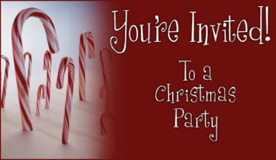 Christmas Party Invitation ecard, online card