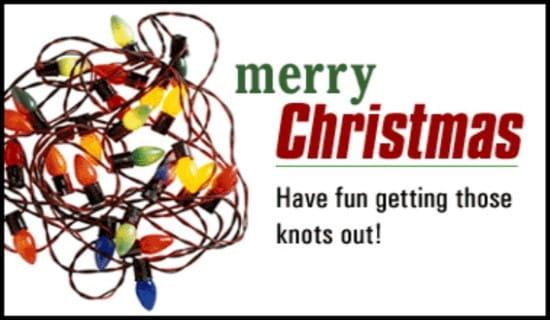 Christmas Lights ecard, online card